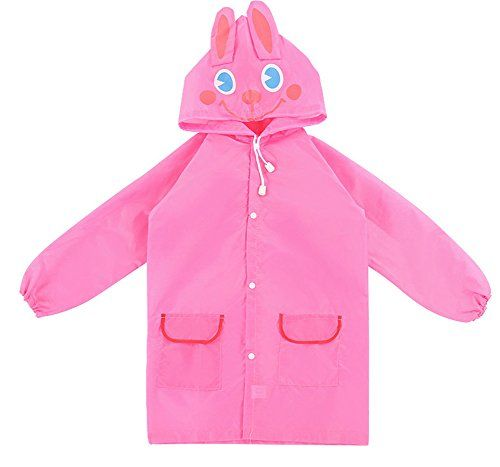 Kids Raincoat - Neaer Children Cute Froggy Raincoat Rainwear Waterproof Rainsuit, One size fits all , Ages 5-12  http://fishingrodsreelsandgear.com/product/kids-raincoat-neaer-children-cute-froggy-raincoat-rainwear-waterproof-rainsuit-one-size-fits-all-ages-5-12/  Colors: green frog, pink rabbit, blue car, red Strawberry, yellow duck Size: 65x55x50 cm Comfortable polyester material
