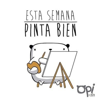 Esta semana pinta bien #opi #lunes #monday #ilustración #cute #kawaii #illustration