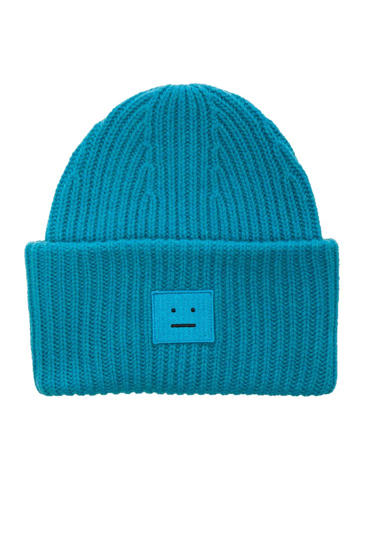 Acne Studios Pansy Beanie in Turquoise | FWRD