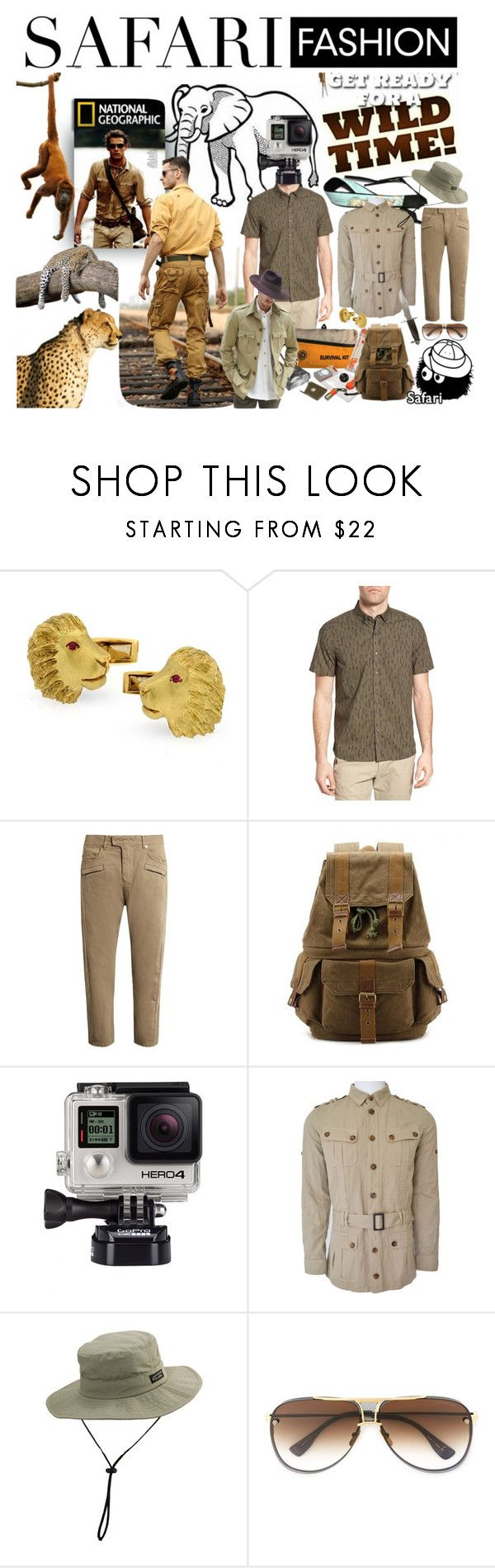 """Get Ready for a Wild Time!"" by marilyn-montoto ❤ liked on Polyvore featuring Michael Bastian, Balmain, Billabong, Brim, Dita, men's fashion and menswear"