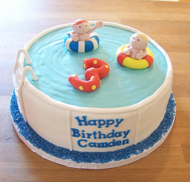 Swimming Pool Cake Ideas : Best cakes pool swimming images on pinterest