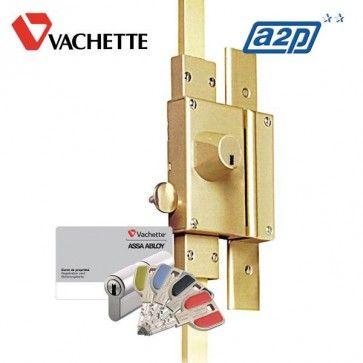 Serrure multipoints Vachette Radial NT+ - Multilock Vachette Assa Abloy - mécanisme 3 points de remplacement livré sans tringlerie. Expédié par Vachette directement chez vous par transporteur.