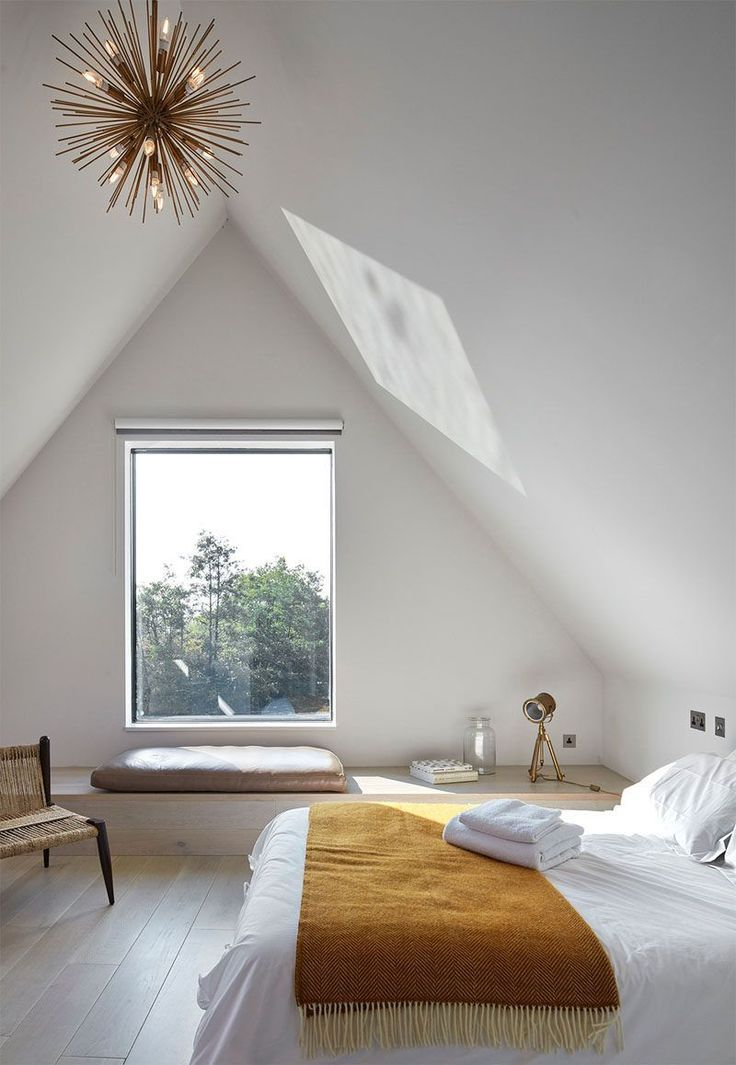 Amy's bedroom is the perfect combination of stylish, bright and minimal – we love the light fitting, too! #bedroom #bedroominteriors #inspiration