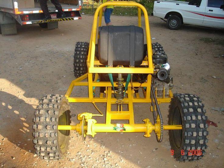 Kart Cross Piranha Amarelo Traseira Go Cart Go Kart
