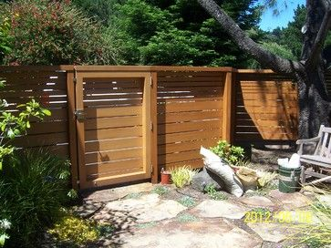 Marin County Contemporary Fence and Gate contemporary-landscape