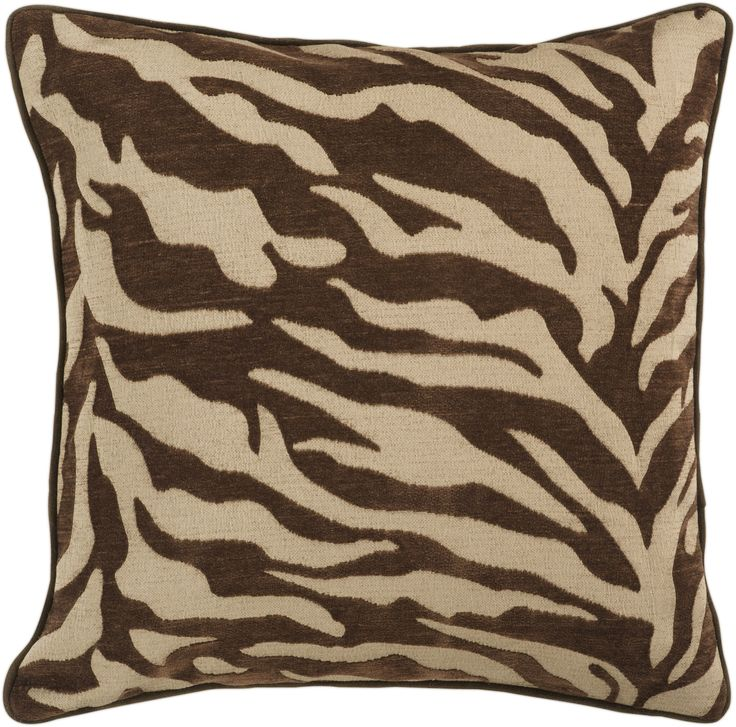 Our Velvet Zebra Chocolate Brown Throw Pillow provides a patterned punch to your living room, den or bedroom. Get wonderfully wild in your space with this unique pillow. Featuring the flickering stripes of a bold chocolate brown zebra pattern, this piece offers a distinctive look that is sure to spice up any space within your home.