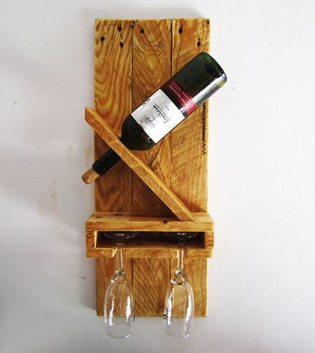 wine rack with shelf for wine glasses using reclaimed wood http://www.home-dzine.co.za/diy/diy-reclaimed-wine-shelf.htm
