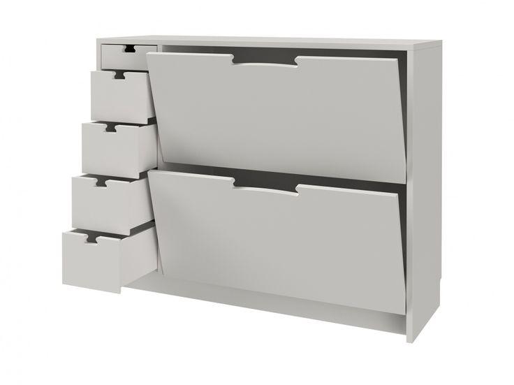 FLEX Skoskåp Vit - Hallmöbler - Förvaring - Inomhus