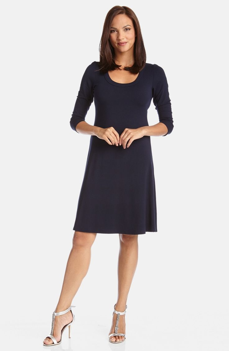 Karen Kane A-Line Jersey Dress available at #Nordstrom