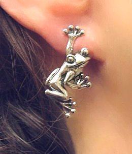 .: Finding Frogs, Frogs Frogs, Frogs Earrings, Google Search, Hanging Frogs, Frogs Ears, Sterling Hanging, Frogs Jewelry, Ears Rings