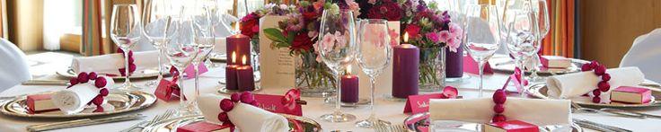 Hochzeitsdeko in Beerentönen - Tischdeko, Gastgeschenke uvam in Lila, Fuchsia und Purpur