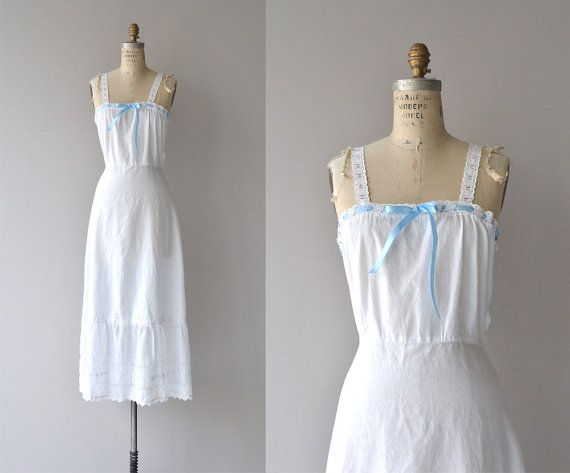 Madrugada nightgown antique 1910s nightgown cotton by DearGolden