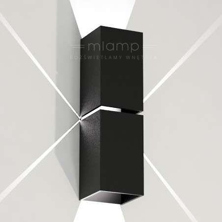Kinkiet LAMPA ścienna NEMURO 4408/G9/CZ Shilo minimalistyczna OPRAWA metalowa prostokątna czarny