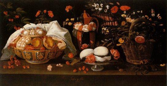 Natureza morta - Doces e Flores - Josefa de Obidos