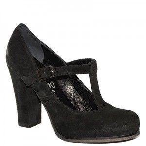 #Decolletè con cinturino a T #EmanuelaPasseri in camoscio nero http://www.tentazioneshop.it/scarpe-emanuela-passeri/decollete-4476-nero-emanuela-passeri-.html