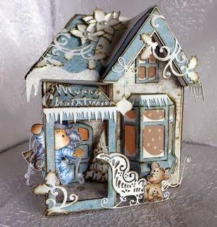 De Scrapcard Blog van Thea (Krea 'Teja'): Kersthuisje voor mams...