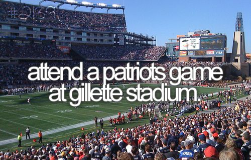go to a patriot's game at gillette stadium