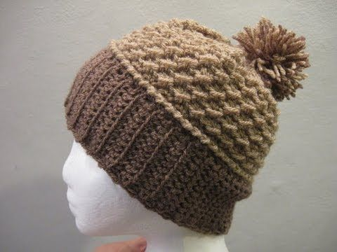 This pattern is awesome! Love, love, love it!  For the written pattern click here http://meladorascreations-com.webs.com/mossstitchbeanie.htm Link for pom pom maker is here http://www.youtube.com/watch?v=a13bFAFauPc=youtu.be    For all free crochet patterns please visit my site at   http://meladorascreations-com.webs.com/    Also you can see picture updates and posts about future projects...