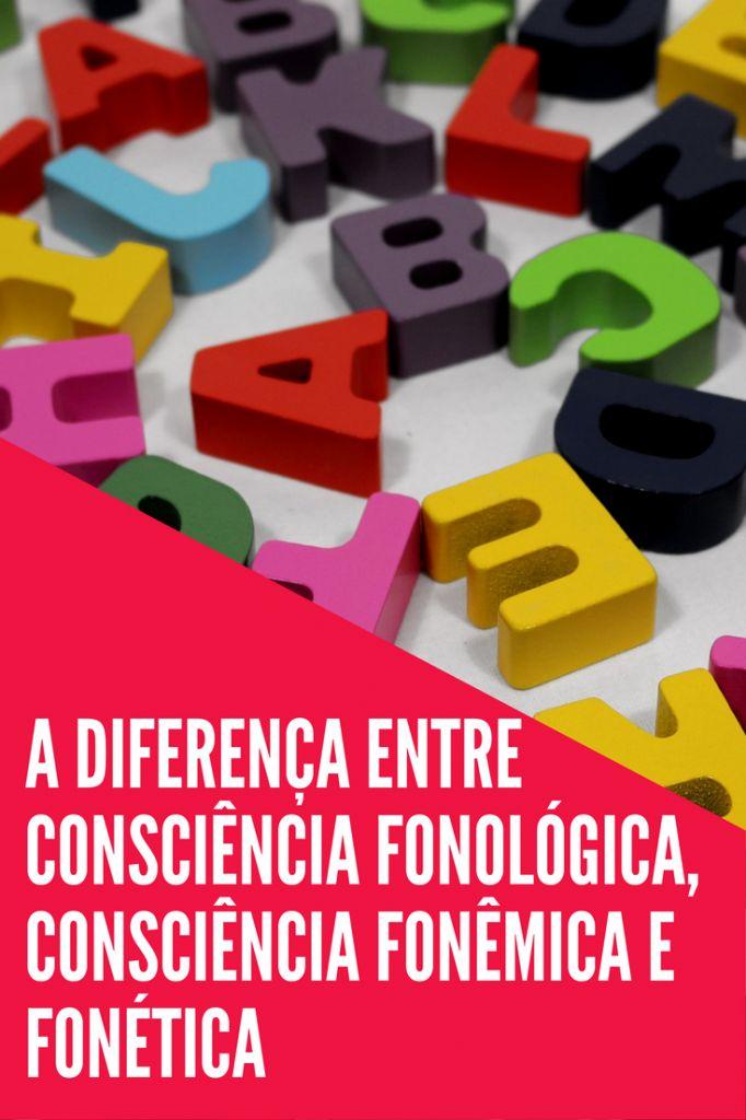 A DIFERENÇA ENTRE CONSCIÊNCIA FONOLÓGICA CONSCIÊNCIA FONÊMICA E FONÉTICA