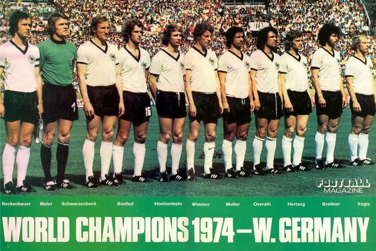 West Germany World Cup Champions,1974