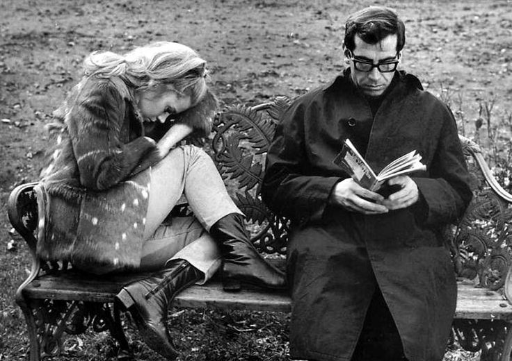 viα tamburina: Jane Fonda & Roger Vadim on the set of of La curée (1966)