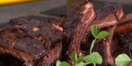 Mesquite-Smoked Beef Ribs with Vinegar BBQ Sauce