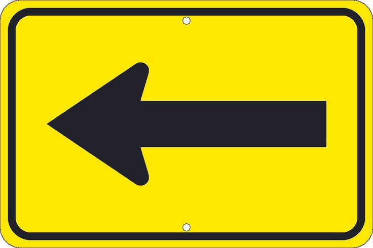 """Large Arrow, National Marker TM249K, 12""""x18"""", Black On Yellow, 85 Percent Recycled .080"""" High Intensity Reflective Aluminum Surface and Roadway Warning Sign With 2 Holes For Post Mounting - Each"""