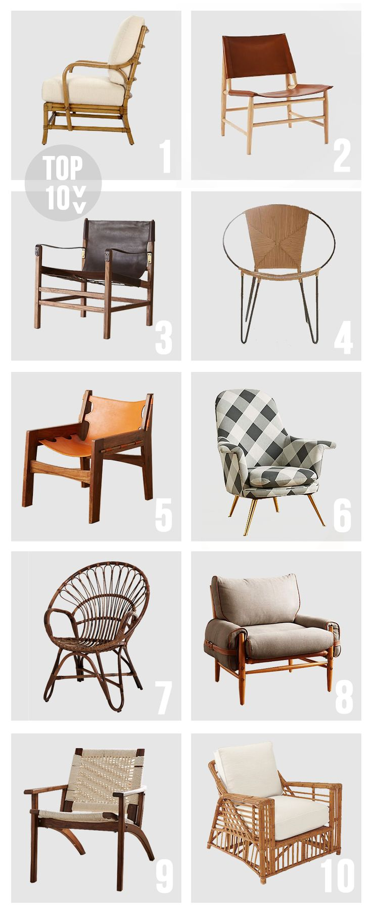 I Love Me Some Purrrrdy Accent Chairs Whether Theyre Rattan Leather Canvas YOU NAME IT Heres A List Of My Top Ten Favs Right Now