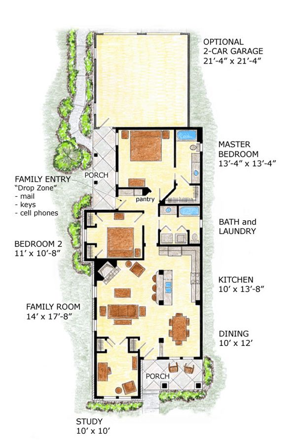 Best 25 narrow house plans ideas on pinterest narrow for Narrow lot craftsman house plans