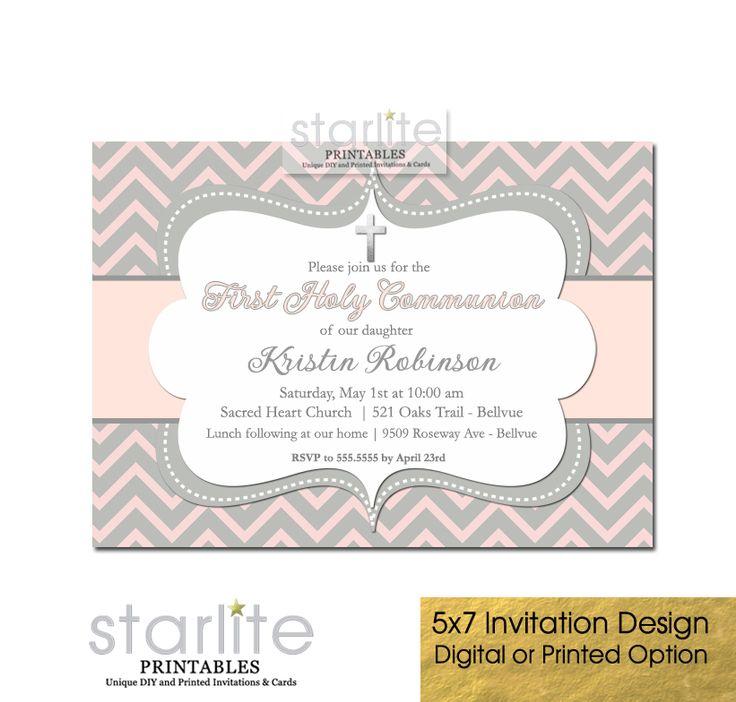 38 best First Communion Invitations - Girls images on Pinterest - best of invitation maker for wedding