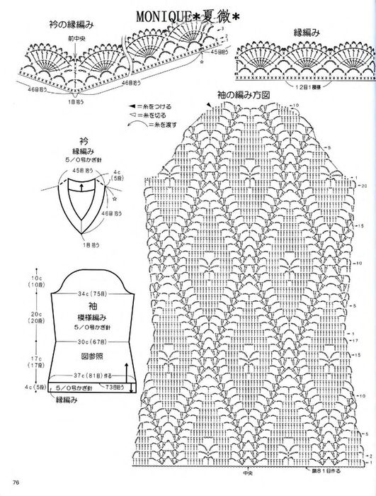 Crochet sweater chart 3