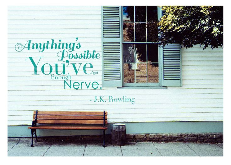 """""""Anything's possible you've got enough nerve"""" Card by Megan Towhey"""