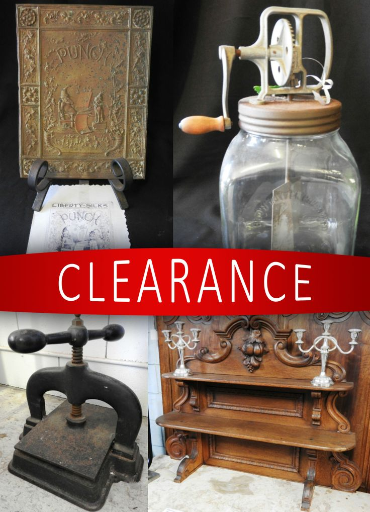 What will you find in the ANTIQUE CLEARANCE? 🔎  This auction includes this gorgeous 19th Century French Book Press plus heaps more
