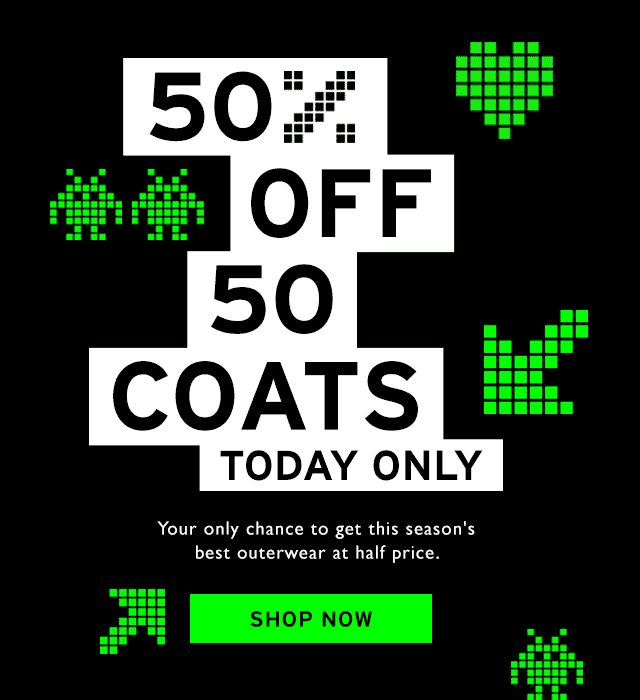 50% off 50 jackets plus free gloves - you know you want to! GIF