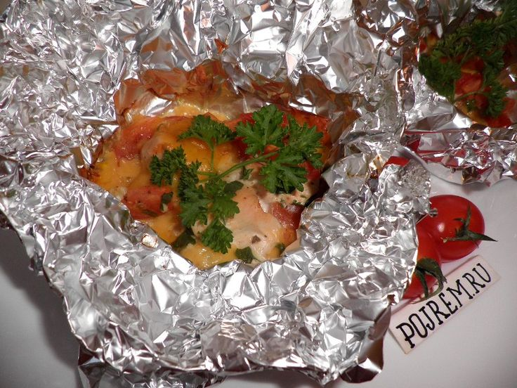 Речепт филе курицы с сыром и помидорами