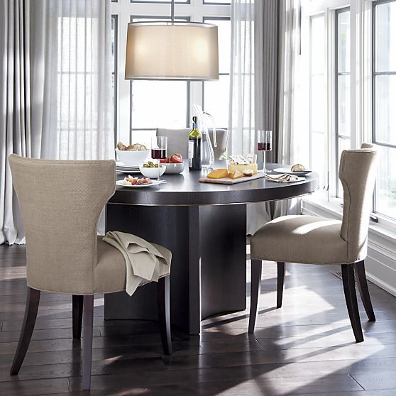17 best ideas about 60 round dining table on pinterest for Crate and barrel dining room ideas