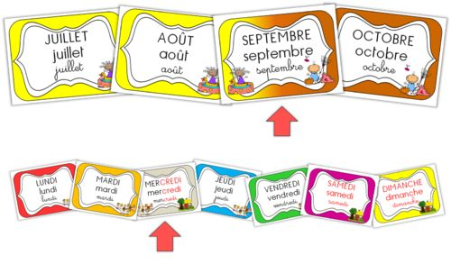 Cycle 1 - Etiquettes pour la date