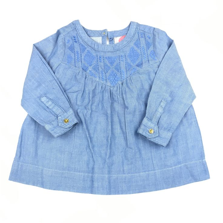 Cotton On Kids, girl's long-sleeved chambray blouse, good pre-loved condition (GUC), size 2, $7 #girlsfashion #kidsfashion #CottonOnKids