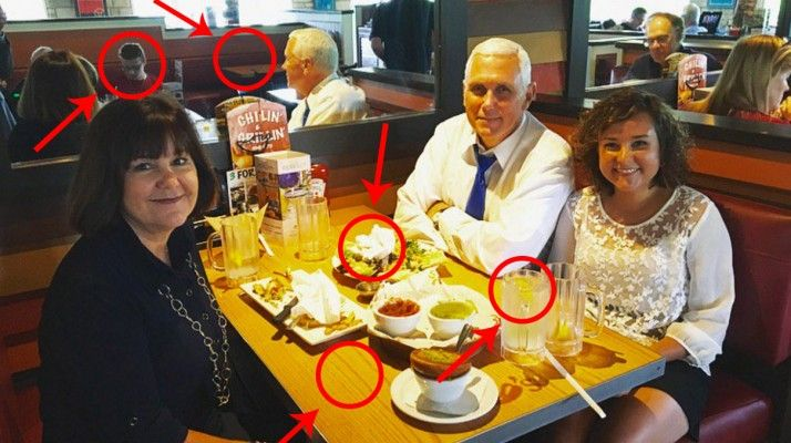 By now, odds are you've seen this photo of Trump's VP Pick, Mike Pence, eating at a New York Chili's with his wife and daughter. Busy weekend in NY! Enjoying a quick dinner with the family at @Chilis. Looking forward to getting back to Indiana. pic.twitter.com/SUFjYcvQpH— Mike Pence (@mike_pence) July 16, 2016 One thing that…