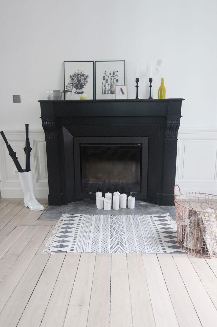 cheminée peinte noire entrelesmurs.com