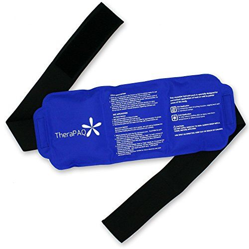 "Pain Relief Ice Pack with Strap for Hot & Cold Therapy - Reusable Gel Pack for Injuries | Best as Heat Wrap or Cold Pack for Back, Waist, Shoulder, Neck, Ankle, Calves and Hip (Large pack: 14"" X 6""). For product info go to:  https://all4hiking.com/products/pain-relief-ice-pack-with-strap-for-hot-cold-therapy-reusable-gel-pack-for-injuries-best-as-heat-wrap-or-cold-pack-for-back-waist-shoulder-neck-ankle-calves-and-hip-large-pack-14-x/"