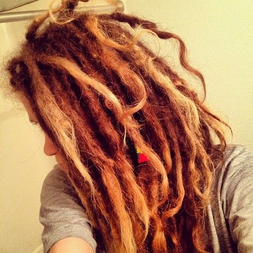 Gorgeous auburn dreadlocks