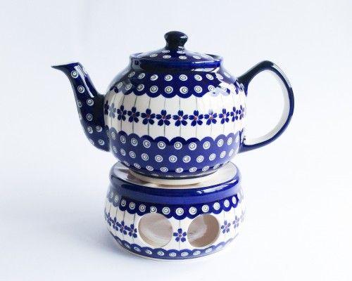 Teapot 1l #PotteryCorner #Boleslawiec #Polishpottery #teapot #teapotwarmer