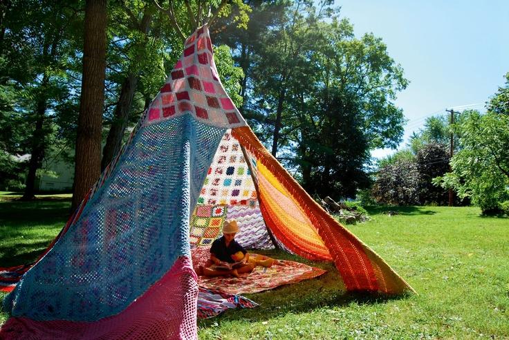 amazing tee peeOutdoor Pictures, Kids Teepees, Crochet Blankets, Amazing Tees, Tees Pee, Crafty Things, Blankets Tents, Children Tees, Amazing Teepees
