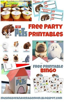Musings of an Average Mom: Free Secret Life of Pets Party Printables – Family Activities