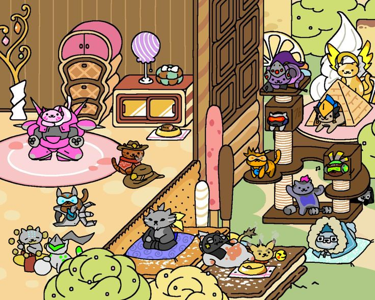 What's better than Overwatch? How about its large cast of characters being drawn as adorable, furry cats in the vein of Neko Atsume?