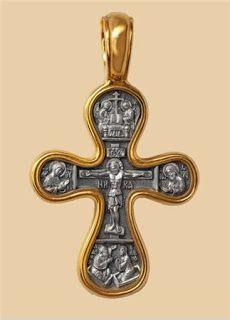 Деревянные кресты ручной работы - Изготовление и установка крестов в Москве: Крест Распятие - Божия Матерь Оранта