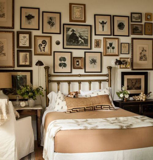 Take Your Bedroom Design To A Whole New Level By Hanging Lot Of Pictures