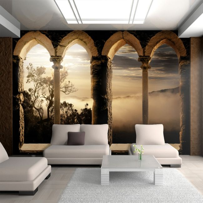15 best LIVING / Tapeten images on Pinterest Murals, Wall papers - tapete steinoptik wohnzimmer