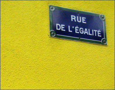 La rue de l'Egalité  (Paris 19ème).